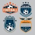 Football Badge Logo Template C...