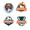Football badge logo template collection design