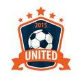 Football badge logo template design,soccer team,vector illuatrat Royalty Free Stock Photo