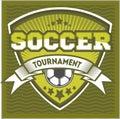 Football badge logo template design,soccer team Royalty Free Stock Photo