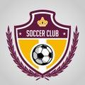 Football badge logo template design,soccer team,vector. Sport, icon.