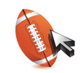 Football ball with cursor arrow - sport shopping Royalty Free Stock Photos