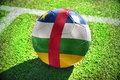 Football ball with the national flag of central african republic