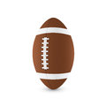 Football ball picture of on white background vector eps illustration Royalty Free Stock Images