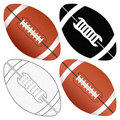 Football ball set Royalty Free Stock Photo