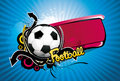 Football ball vector banner Royalty Free Stock Photography