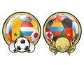 Football balls Royalty Free Stock Images