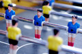 Football board game miniature figurines Stock Images