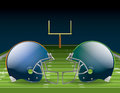 Football championship illustration of american helmets on a field vector eps file available eps file contains transparencies and Stock Photo