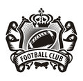 Football club authors illustration in vector Royalty Free Stock Images