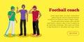 Football Coaches Web Banner Cartoon Soccer Referee