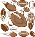 Football collection a clip art of icons and elements Stock Photos