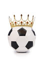 Football with crown Stock Photo
