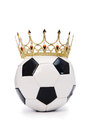 Football with crown Royalty Free Stock Image