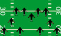 Football defense illustration of defensive side of american team on the field birds eye view Stock Image
