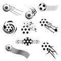 Football design elements set of logo for your projects Stock Image