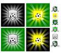 Football emblem Royalty Free Stock Image