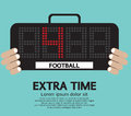 Football extra time vector illustration Stock Images