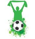 Football fan Royalty Free Stock Photo
