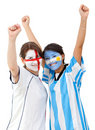 Football fans Royalty Free Stock Photos