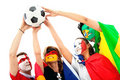 Football fans portrait Royalty Free Stock Photos