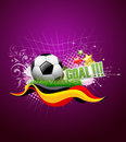 Football festival artistic background Royalty Free Stock Photos