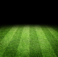 Football field background close up of soccer or at night with copy space Royalty Free Stock Photography