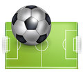 Football field and football/soccer ball Stock Images