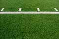 Football field grass with yard line Royalty Free Stock Photography