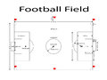 Football Field lines, soccer filed line. Measurements standard. Sport vector illustration. image, jpeg.