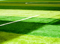 Football field shadow on background Stock Image