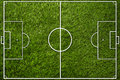 Football field yard with lines top view Royalty Free Stock Images