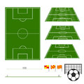 Football Fields Royalty Free Stock Photography
