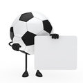 Football figure hold billboard Royalty Free Stock Photography