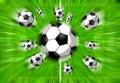 Football filed Royalty Free Stock Photos