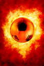 Football On Fire Royalty Free Stock Photos