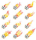 Football on fire Stock Images