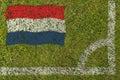 Football Flag Stock Photography