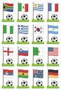 Football flags Royalty Free Stock Photos