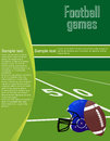 Football flyer a for american games Royalty Free Stock Photography