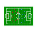 Football formation tactics Royalty Free Stock Photography