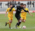 Football game between Eordaikos and Paok Royalty Free Stock Images