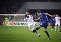 Football game FC Dynamo Kyiv vs FC Everton Royalty Free Stock Photo