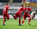 Football Goal Celebration Stock Images