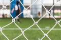 Football goal net Royalty Free Stock Photo