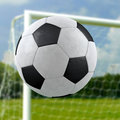 Football goal net backgound Stock Image
