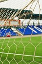 Football goal, net, close-up Royalty Free Stock Photo