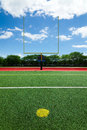 Football goal post beautiful summer day Stock Photography