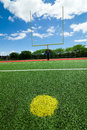 Football goal post beautiful summer day Royalty Free Stock Image