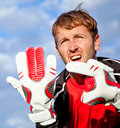 Football goalkeeper Stock Image